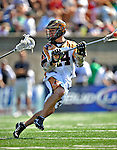24 August 2008: Rochester Rattlers' Midfielder Jordan Hall in action against the Denver Outlaws during the Championship Game of the Major League Lacrosse Championship Weekend at Harvard Stadium in Boston, MA. The Rattles defeated the Outlaws 16-6 to take the league honor for the 2008 season...Mandatory Photo Credit: Ed Wolfstein Photo