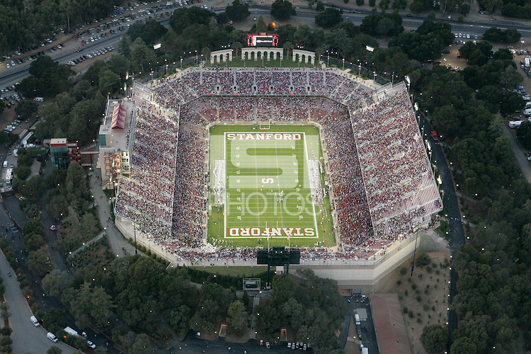19 November 2005: Aerial shots of the Stanford Stadium during Stanford's 27-3 loss to Cal during the final Big Game at Stanford Stadium in Stanford, CA.