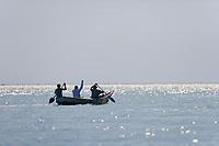 Fisherman, Kazinga Channel, Uganda, East Africa