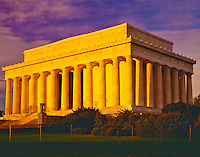 Lincoln Memorial in Dawn Light, Along Potomac River, Washington D.C.