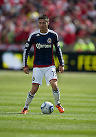 02 April 2011: Chivas USA defender/midfielder Jorge Flores #19 in action during an MLS game between Chivas USA and the Toronto FC at BMO Field in Toronto, Ontario Canada..The game ended in a 1-1 draw...