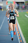 1339<br /> <br /> Chugiak&rsquo;s Adrianna Proffitt in the 3200 meter run on Friday. Photo for the Star by Michael Dinneen