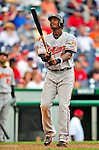 24 May 2009: Baltimore Orioles' center fielder Adam Jones stands at the plate against the Washington Nationals at Nationals Park in Washington, DC. The Nationals rallied to defeat the Orioles 8-5 and salvage a win in their interleague series. Mandatory Credit: Ed Wolfstein Photo