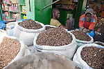 A man sells spices near the Grand Marche of Bamako, Mali.