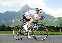 Picture by Alex Broadway/ASO/SWpix.com - 21/07/16 - Cycling - Tour de France 2016 - Stage Eighteen - Sallanches to Meg&egrave;ve - Adam Yates of Great Britan and Orica Bike Exchange in action.<br /> NOTE : FOR EDITORIAL USE ONLY. COMMERCIAL ENQUIRIES IN THE FIRST INSTANCE TO simon@swpix.com THIS IS A COPYRIGHT PICTURE OF ASO. A MANDATORY CREDIT IS REQUIRED WHEN USED WITH NO EXCEPTIONS to ASO/ALEX BROADWAY