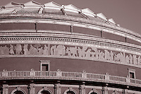 Close-up of Royal Albert Hall in London, England
