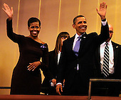 United States President Barack Obama and first lady Michelle Obama wave to guests as they arrive in their box at the Kennedy Center for the Performing Arts, to attend the Let Freedom Ring Celebration, in Washington, DC, USA, to honor today's Martin Luther King Jr national holiday, 16 January 2012..Credit: Mike Theiler / Pool via CNP
