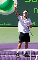 Andy RODDICK (USA) against Tomas BERDYCH (CZE) in the final of the men's finals. Andy Roddick beat Tomas Berdych 7-5 6-4..International Tennis - 2010 ATP World Tour - Sony Ericsson Open - Crandon Park Tennis Center - Key Biscayne - Miami - Florida - USA - Sun 4 Mar 2010..© Frey - Amn Images, Level 1, Barry House, 20-22 Worple Road, London, SW19 4DH, UK .Tel - +44 20 8947 0100.Fax -+44 20 8947 0117