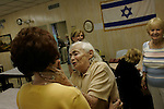 ***&copy; 2005 MICHAEL NAGLE  ALL RIGHTS RESERVED***<br /> <br /> Members of the Four Seasons Lodge Catskills bungalow colony, a summer retreat for Holocaust survivors, on August 15, 2005.  Photograph by Michael Nagle