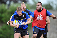 Tom Woolstencroft of Bath Rugby in action. Bath Rugby training session on August 4, 2015 at Farleigh House in Bath, England. Photo by: Patrick Khachfe / Onside Images