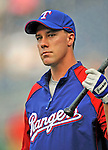 21 June 2008: Texas Rangers' right fielder David Murphy warms up prior to facing the Washington Nationals at Nationals Park in Washington, DC. The Rangers defeated the Nationals 13-3 in the second game of their 3-game inter-league series...Mandatory Photo Credit: Ed Wolfstein Photo