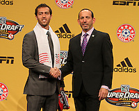 A,J, Soares with commissioner Don Garber at the 2011 MLS Superdraft, in Baltimore, Maryland on January 13, 2010.