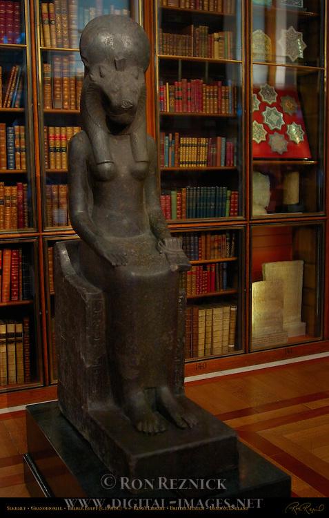 Sekhmet, Granodiorite c. 1350 BC, Thebes, Egypt, King's Library, British Museum, London, England, UK