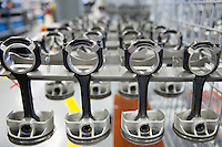 Mercedes-AMG engine production factory in Affalterbach in Germany - pistons and connector rods in sets of 4 for V8 engines