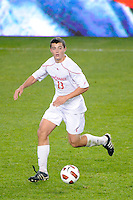Alex Hadley (23) of the Cincinnati Bearcats. The Providence Friars defeated the Cincinnati Bearcats 2-1 during the semi-finals of the Big East Men's Soccer Championship at Red Bull Arena in Harrison, NJ, on November 12, 2010.