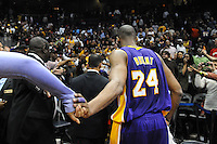 Atlanta, GA-March 8, 2011: Laker Kobe Bryant finished with 26 points and 6 rebounds during the Lakers 101-87 victory over Atlanta Hawks at Phillips Arena. During the game Bryant Passed Moses Malone for 6th on the NBA all-time scoring List.