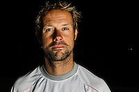 BRAZIL, Itajai. 7th April 2012. Volvo Ocean Race. Thomas Coville, Helmsman, Groupama.