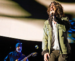 Soundgarden guitarist Kim Thayil and lead singer Chris Cornell performs during their set at the 2012 KROQ Weenie Roast y Fiesta at Verizon Wireless Amphitheater in Irvine.