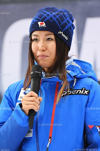 Ayana Onozuka, <br /> NOVEMBER 1, 2016 - Skiing :<br /> 2016/2017 SAJ Team Japan TAKE OFF Press Conference<br /> at SUBARU STAR SQUARE, Tokyo, Japan.<br /> (Photo by AFLO SPORT)