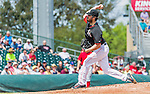 10 March 2015: Miami Marlins pitcher Dan Haren on the mound during Spring Training action against the Washington Nationals at Roger Dean Stadium in Jupiter, Florida. The Marlins edged out the Nationals 2-1 on a walk-off solo home run in the 9th inning of Grapefruit League play. Mandatory Credit: Ed Wolfstein Photo *** RAW (NEF) Image File Available ***