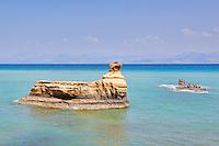 Rock formations in Sidari at Corfu, Greece