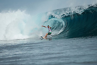 Namotu Island, Fiji (Friday, June 12, 2015) Alejo Muniz (BRA) - Stop No. 5 on the 2015 WSL Championship Tour (CT), the Fiji Pro, commenced today with the world&rsquo;s best surfers tackling building four-to-six foot (1.5 - 2 metre) waves at Cloudbreak for Round 1 of competition.<br /> <br /> Holding a waiting period from June 7 - 19, the 2015 Fiji Pro opened with five consecutive lay days, allowing the world&rsquo;s best surfers to acclimatise to their temporary homes of Tavarua Is. and Namotu Is. as well as re-familiarise themselves with the world-class lefthander of Cloudbreak. The brief pause before action resulted today&rsquo;s explosive Round 1 that bore witness to a number of upsets as well as excellent scores.<br /> Photo: joliphotos.com