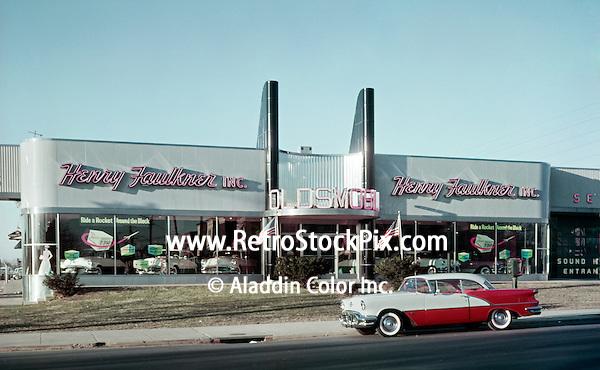 Henry Faulkner Oldsmobile Car Dealership Showroom, PA 1958