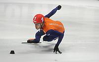SHORTTRACK: DORDRECHT: Sportboulevard Dordrecht, 23-25-01-2015, ISU EK Shorttrack, Sjinkie KNEGT (NED | #1), ©foto Martin de Jong