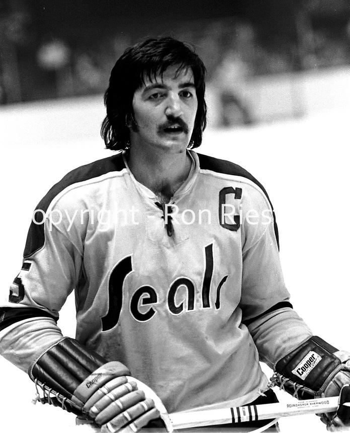 Seals captain Carol Vadnais. 1972(photo/Ron Riesterer)