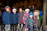 Enjoying the switching on of the christmas lights in Castleisland on Saturday were Chloe O'Donoghue, Abbey O'Donoghue, Emma Horgan, Ellie Horgan, Patrick Stewart and Jessica Horgan,
