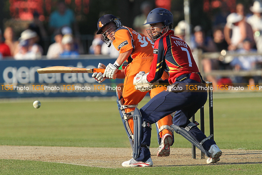 Tom de Grooth in batting action for Netherlands - Essex Eagles vs Netherlands - Clydesdale Bank 40 Cricket at Castle Park, Colchester - 19/08/12 - MANDATORY CREDIT: Gavin Ellis/TGSPHOTO - Self billing applies where appropriate - 0845 094 6026 - contact@tgsphoto.co.uk - NO UNPAID USE.