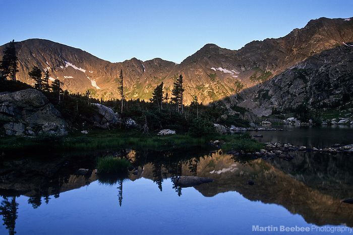 Morning light on mountains, Missouri Lakes Basin, Holy Cross Wilderness, White River National Forest, Colorado