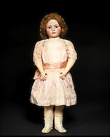 BNPS.co.uk (01202 558833)<br /> Pic: Bonhams/BNPS<br /> <br /> ***Please Use Full Byline***<br /> <br /> A rare and large simon &amp; halbig 1448 bisque head character doll.<br /> <br /> Well Hello Dolly  - &pound;1million doll collection sells at Bonhams.<br /> <br /> A creepy collection of almost 100 'lifelike' dolls modelled on children has sold for hearly &pound;1million. <br /> <br /> The eerie-looking toys were made in Germany in the early 20th century as dollmakers strived to produce dolls with realistic human features.<br /> <br /> The collection of 92 dolls, which includes some of the rarest ever made, has been pieced together by a European enthusiast over the past 30 years.