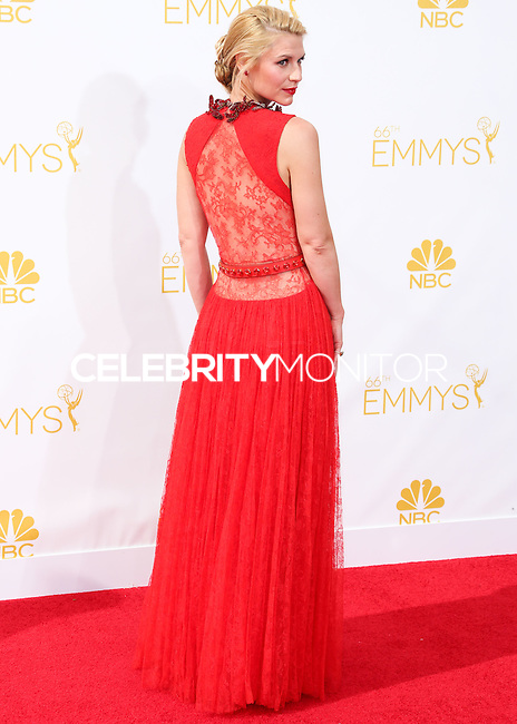 LOS ANGELES, CA, USA - AUGUST 25: Actress Claire Danes arrives at the 66th Annual Primetime Emmy Awards held at Nokia Theatre L.A. Live on August 25, 2014 in Los Angeles, California, United States. (Photo by Celebrity Monitor)