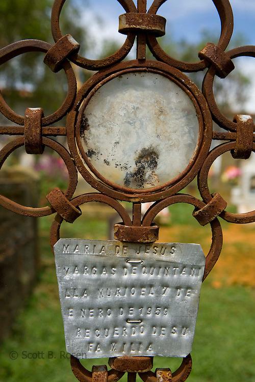 Cemetery in Barichara, Santander, Colombia