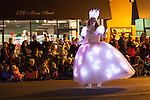 Glinda the Good Witch dances along Main Street to cast a happy spell on spectators.
