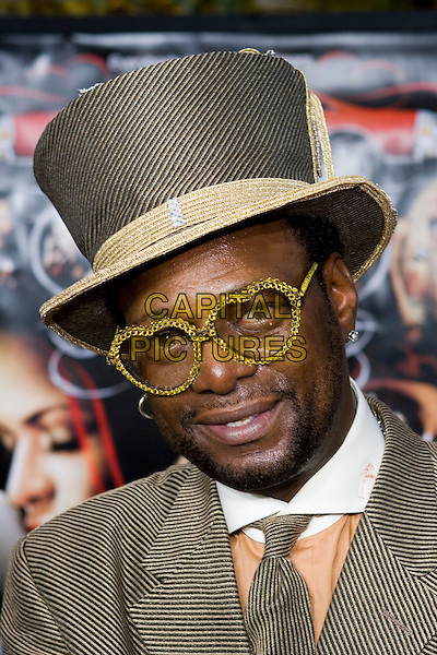 """BISHOP DON JUAN.At the """"Hustle & Flow"""" Los Angeles Film Premiere,.held at the Arclight Cinerama Dome, .Hollywood, California, USA, 20th July 2005..portrait headshot hat costume  glasses.Ref: ADM.www.capitalpictures.com.sales@capitalpictures.com.©Zach Lipp/AdMedia/Capital Pictures."""