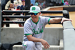 WAKE FOREST, NC - APRIL 15: Notre Dame head coach Mik Aoki. The Wake Forest Demon Deacons hosted the University of Notre Dame Fighting Irish on April 15, 2017, at David F. Couch Ballpark in Wake Forest, NC in a Division I College Baseball game. Wake Forest won the game 13-7.