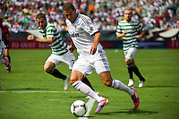 Karim Benzema (9) of Real Madrid. Real Madrid defeated Celtic F. C. 2-0 during a 2012 Herbalife World Football Challenge match at Lincoln Financial Field in Philadelphia, PA, on August 11, 2012.