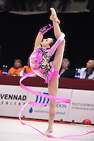 "February 9, 2014 - Tartu, Estonia - ANNA LUIZA FILIORIANU (1999 junior) from Romania performs at ""Miss Valentine 2014"" international tournament."
