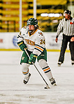 13 November 2015: University of Vermont Catamount Forward Saana Valkama, a Freshman from Pirkkala, Finland, in action against the Providence College Friars at Gutterson Fieldhouse in Burlington, Vermont. The Lady Friars defeated the Lady Cats 4-1 in Hockey East play. Mandatory Credit: Ed Wolfstein Photo *** RAW (NEF) Image File Available ***