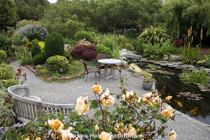 Holt 638 photobotanic stock photography garden for Garden pond gravel