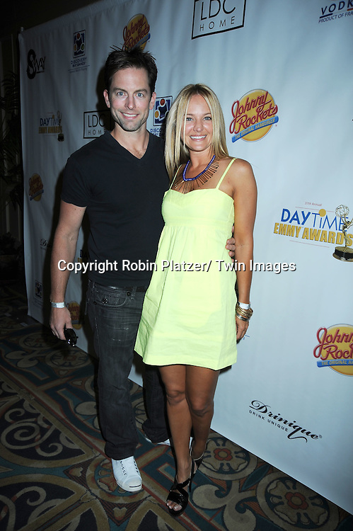 Michael Muhney and Sharon Case at the Sway Gift Suite at the Daytime Emmy Awards on June 26, 2010 at The Hilton in Las Vegas on June 26, 2010.