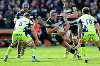 Henry Thomas of Bath Rugby in possession. Aviva Premiership match, between Bath Rugby and Sale Sharks on April 23, 2016 at the Recreation Ground in Bath, England. Photo by: Patrick Khachfe / Onside Images