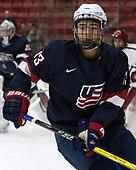 Tyler Inamoto (NTDP - 13) - The Harvard University Crimson defeated the US National Team Development Program's Under-18 team 5-2 on Saturday, October 8, 2016, at the Bright-Landry Hockey Center in Boston, Massachusetts.
