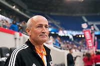 Houston Dynamo head coach Dominic Kinnear. The New York Red Bulls defeated the Houston Dynamo 1-0 during a Major League Soccer (MLS) match at Red Bull Arena in Harrison, NJ, on May 09, 2012.