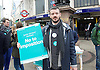 Junior Doctors Strike <br /> picket at St George's Hospital, Tooting, London, Great Britain <br /> 26th April 2016 <br /> <br /> <br /> Outside Tooting Broadway tube station <br /> <br /> <br /> Photograph by Elliott Franks <br /> Image licensed to Elliott Franks Photography Services