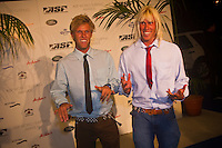 """GOLD COAST, Queensland/Australia (Thursday, February 24, 2011) Pat  and Dane Gudauskas (USA) -The ASP World Surfing Awards was held  tonight at the Gold Coast Convention and Exhibition Centre. .Surfing's """"night of nights"""", the ASP World Surfing Awards, was a gala event, hosting the world's best surfers as well as distinguished figures from the surfing industry to honor of the 2010 ASP World Champions.. .Kelly Slater (USA), 39,  accepted his history-making and unprecedented tenth ASP World Title just a day before opening his 2011 ASP World Title campaign at the Quiksilver Pro Gold Coast.  .Stephanie Gilmore (AUS), 23,  made her own history ton the  evening, collecting her fourth consecutive Women's World Title. Gilmore will begin her 2011 assault this weekend at the opening event of the 2011 ASP Women's World Title season, the Roxy Pro Gold Coast.. .Slater and Gilmore headlined a slew of incredible athletes on the evening.. .Awards Recipient List:. .2010 ASP World Champion:Kelly Slater (USA).2010 ASP Women's World Champion:Stephanie Gilmore (AUS). .2010 ASP World Tour Runner-Up:Jordy Smith (ZAF).2010 ASP Women's World Tour Runner-Up:Sally Fitzgibbons (AUS). .2010 ASP World Tour Rookie of the Year: Owen Wright (AUS).2010 ASP Women's World Tour Rookie of the Year:Carissa Moore (HAW. .2010 ASP World Tour 'Breakthrough Performer':TBA.2010 ASP Women's World Tour 'Breakthrough Performer':TBA. .2010 ASP World Longboard Champion:Duane DeSoto (HAW).2010 ASP Women's World Longboard Champion:Cori Schumacher (HAW). .2010 ASP World Junior Champion:Jack Freestone (AUS).2010 ASP Women's World Junior Champion:Alizee Arnaud (FRA). .Photo: joliphotos.com"""