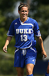 23 September 2007: Duke's Lorraine Quinn. The Duke University Blue Devils defeated the Ohio State University Buckeyes 2-1 at Koskinen Stadium in Durham, North Carolina in an NCAA Division I Women's Soccer game, and part of the annual Duke Adidas Classic tournament.