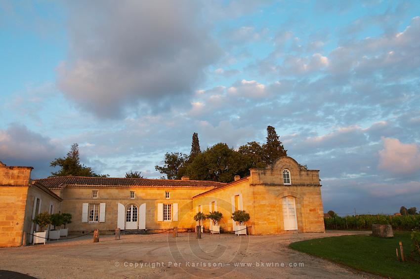 at sunset chateau trottevieille saint emilion bordeaux france